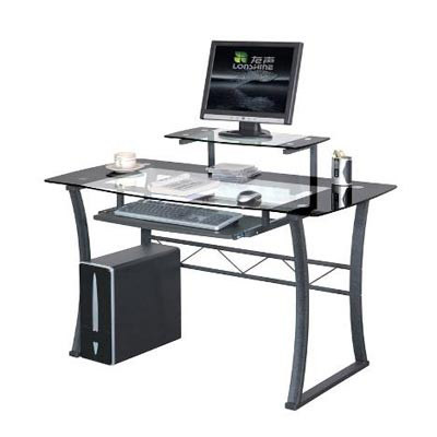 storm black glass office desk black glass office desk